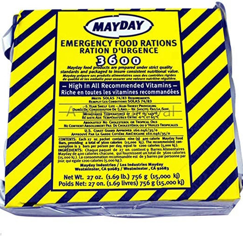 9 Meals for 3 Days (3600 Calories) - Emergency Food Ration Kit