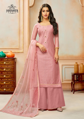 Elegant Suit with plazzo Dress Material