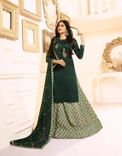 Elegant Sharara dress material