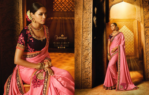 Partywear Silk  Saree