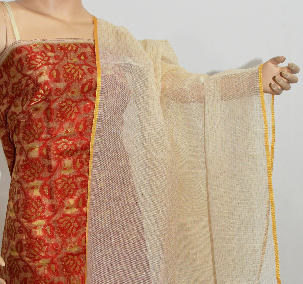 Indian Suit dress Material for Women - Top, bottom and Dupatta