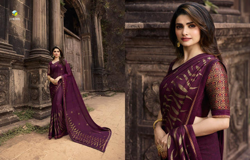 Partywear Silk Georgette Saree