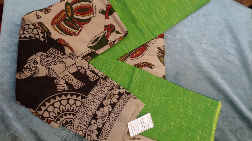 TRADITIONAL KALAMKARI DRESS MATERIAL