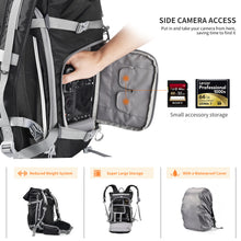 Zecti Waterproof Camera Backpack for Photography & Laptop Accessories with Super Larger Space, High Durability, Rain Cover