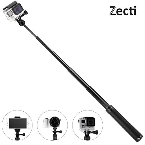 Zecti Selfie Stick for Gopro Extendable Handheld Monopod with 1/4