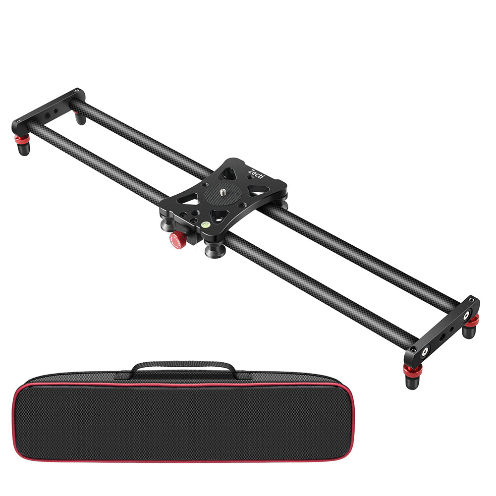 Zecti Camera Slider, Newest Adjustable Carbon Fiber Camera Dolly Track Slider Video Stabilizer Rail(Max Load: 8kg/18lbs) with 4 Bearings for Camera DSLR Video Movie Photography Camcorder Stabili 23.6