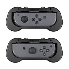 Zecti Joy-Con Grips for Nintendo Switch, Ergonomic Design Comfort Game Handle Kit for Nintendo Switch Joy-Con Controllers, 2 Pack (Black)