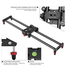 Zecti Camera Slider, Newest Adjustable Carbon Fiber Camera Dolly Track Slider Video Stabilizer Rail(Max Load: 8kg/18lbs) with 4 Bearings for Camera DSLR Video Movie Photography Camcorder Stabili 23.6""
