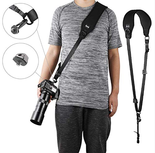 Zecti Camera Shoulder Neck Strap for SLR DSLR Mirrorless Digital Cameras Canon Nikon Fuji Leica Olympus Lumix Sony