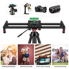 Zecti 15.7'' Adjustable Carbon Fiber Camera Slider Track Dolly Sliders Rail System and Video Shot Follow Focus Shot Panoramic Shooting