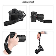 Zecti Neoprene Camera Wrist Strap with Quick Release and Safety Tether, Adjustable Camera Hand Strap for Camera DSLR Camcorder