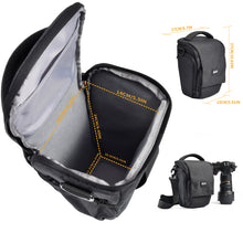 Camera Bag - Zecti Sling Bag Style Camera Case Backpack with Modular Inserts & Waterproof Rain Cover - for DSLR & Mirrorless Cameras (Nikon, Canon, Sony)