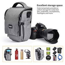 Zecti Soft Padded Camera Equipment Bag/Case for Nikon, Canon, Sony, Pentax, Olympus, Panasonic, Samsung DSLR Cameras