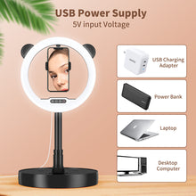 Zecti 10 inch Ring Light with Stand and Phone Holder, LED Selfie Light Ring with Dimmable 3 Color Modes and 10 Brightness for Live Stream Makeup Photography Compatible with iPhone Xs Android-Black