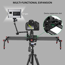 "Zecti 23.6"" / 60cm Camera Slider, Adjustable Carbon Fiber Camera Dolly Track Slider Video Stabilizer Rail(Max Load: 8kg/18lbs) with 4 Bearings for Camera DSLR Video Movie Photography Camcorder Stabili"