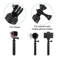 "Zecti Selfie Stick for Gopro Extendable Handheld Monopod with 1/4"" male Thread for Action Camera, Cellphone, Led Flash lite,and etc"