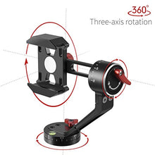 Zecti Tripod Head for Cell Phone CNC Aluminum Alloy 360 Degree Smooth Rotation All-Dimensional Angle Adjusting Video Head for Tripod Monopod Sliders