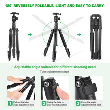 Zecti Camera Tripod 14 to 55 Inch Tripod and Monopod with Carry Bag Loading Capacity 5 kg