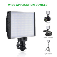 Zecti 144 Dimmable LED Video Light Panel with Hot Shoe, 3200-5600K, 1500LM, LCD Display Screen, 15W Aluminum Camcorder Light Panel for DSLR Camera Video Camcorder