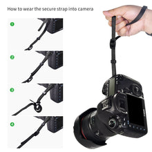 Zecti Neoprene Camera Wrist Strap with Secure Strap, Adjustable Camera Hand Strap for Camera DSLR Camcorder Binocular