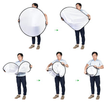 Zecti 110x110cm Foldable Light Reflector 5-in-1 Photo Light Reflector with Bag (Clear, Silver, Gold, White and Black)