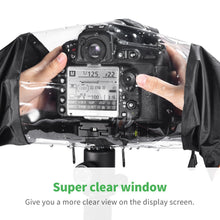 Camera Raincover Zecti Waterproof Raincover for Canon and Nikon SLR Cameras, Color - Black