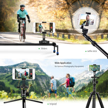 Smartphone Phone Holder Adapter Zecti Cellphone Tripod Mount CNC Alluminum for iPhone X iPhone 8 iPhone 8 Plus iPhone 7 Plus/Samsung/Galaxy S8+/Nexus Used on Desk Tripod Monopod Selfie Stick Slider