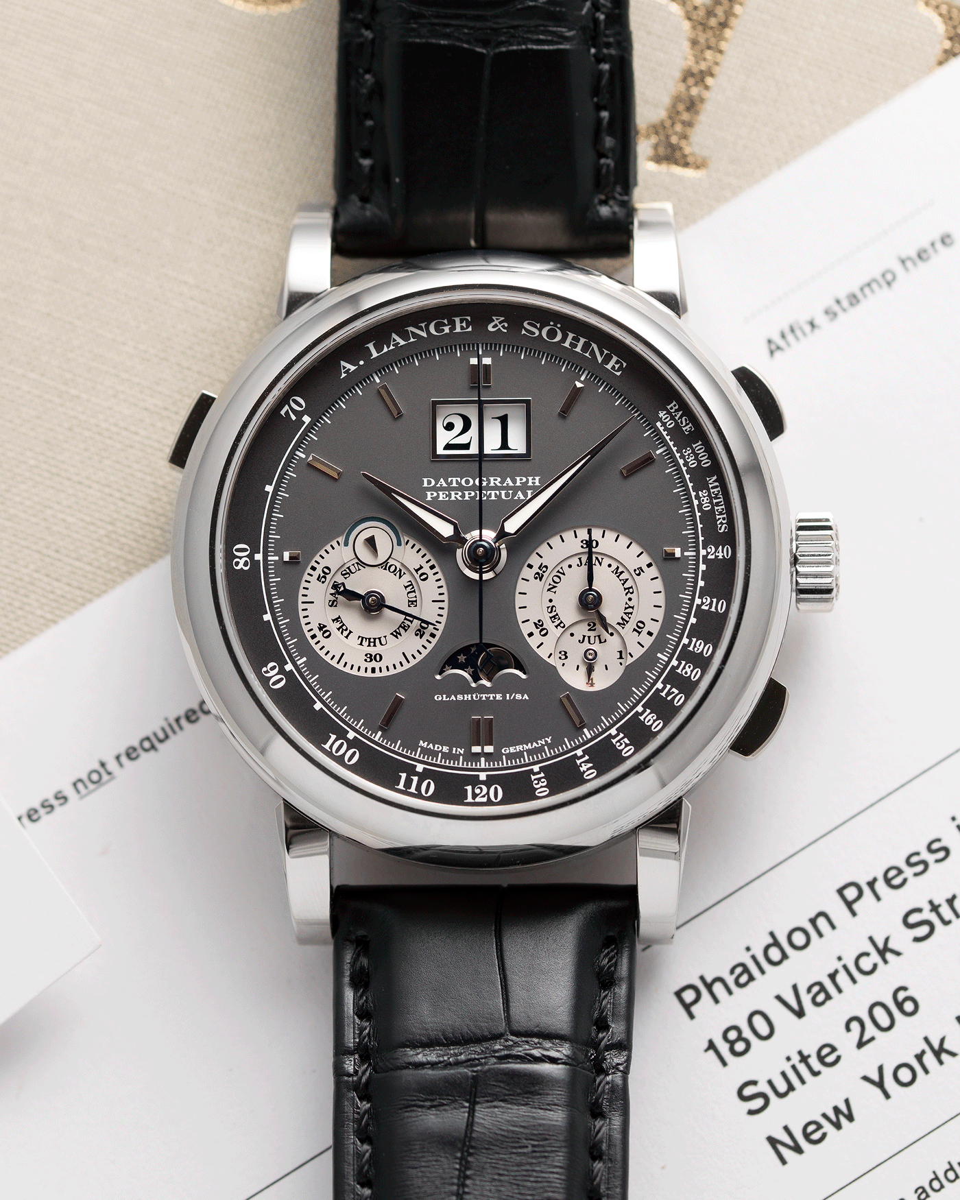 A. Lange & Sohne Datograph Perpetual 410.083 Watch | S.Song Vintage Timepieces