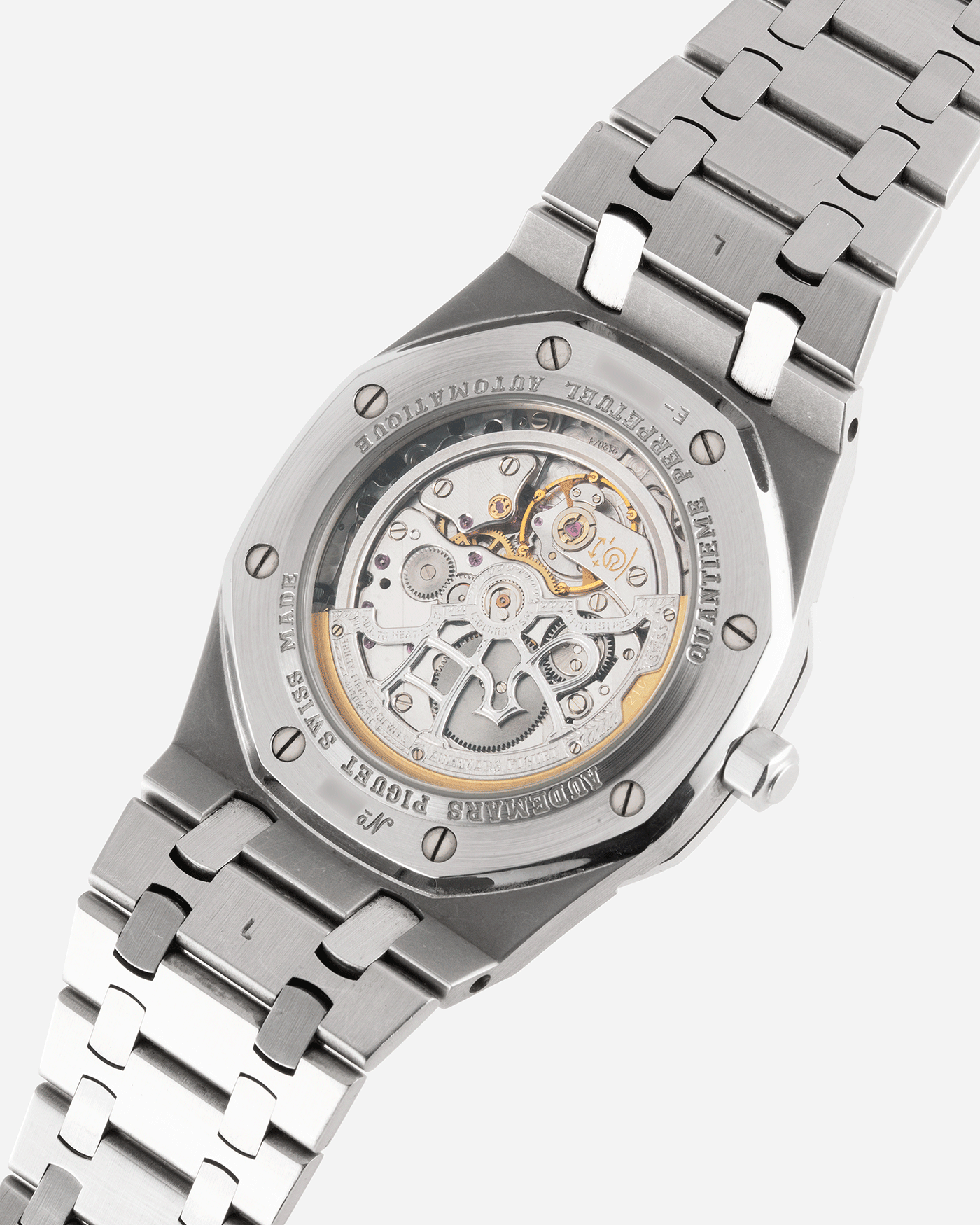 Brand: Audemars Piguet Year: 2002 Model: Royal Oak Reference Number: 25820 Material: Stainless Steel Movement: Cal. 2120/2802 Case Diameter: 39mm Bracelet: Audemars Piguet Integrated Stainless Steel Bracelet