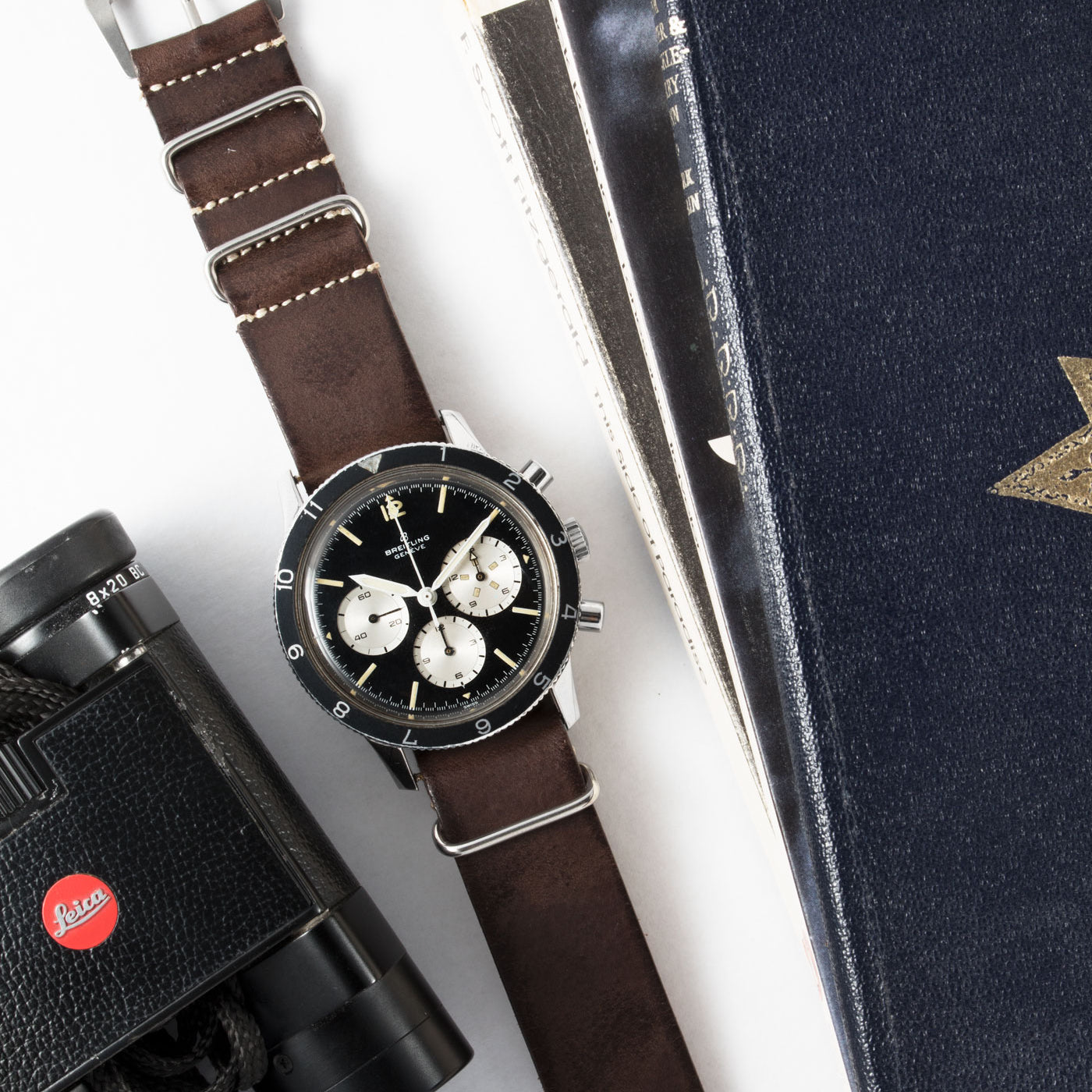 JPM X S.Song Dark Brown Smooth Leather NATO