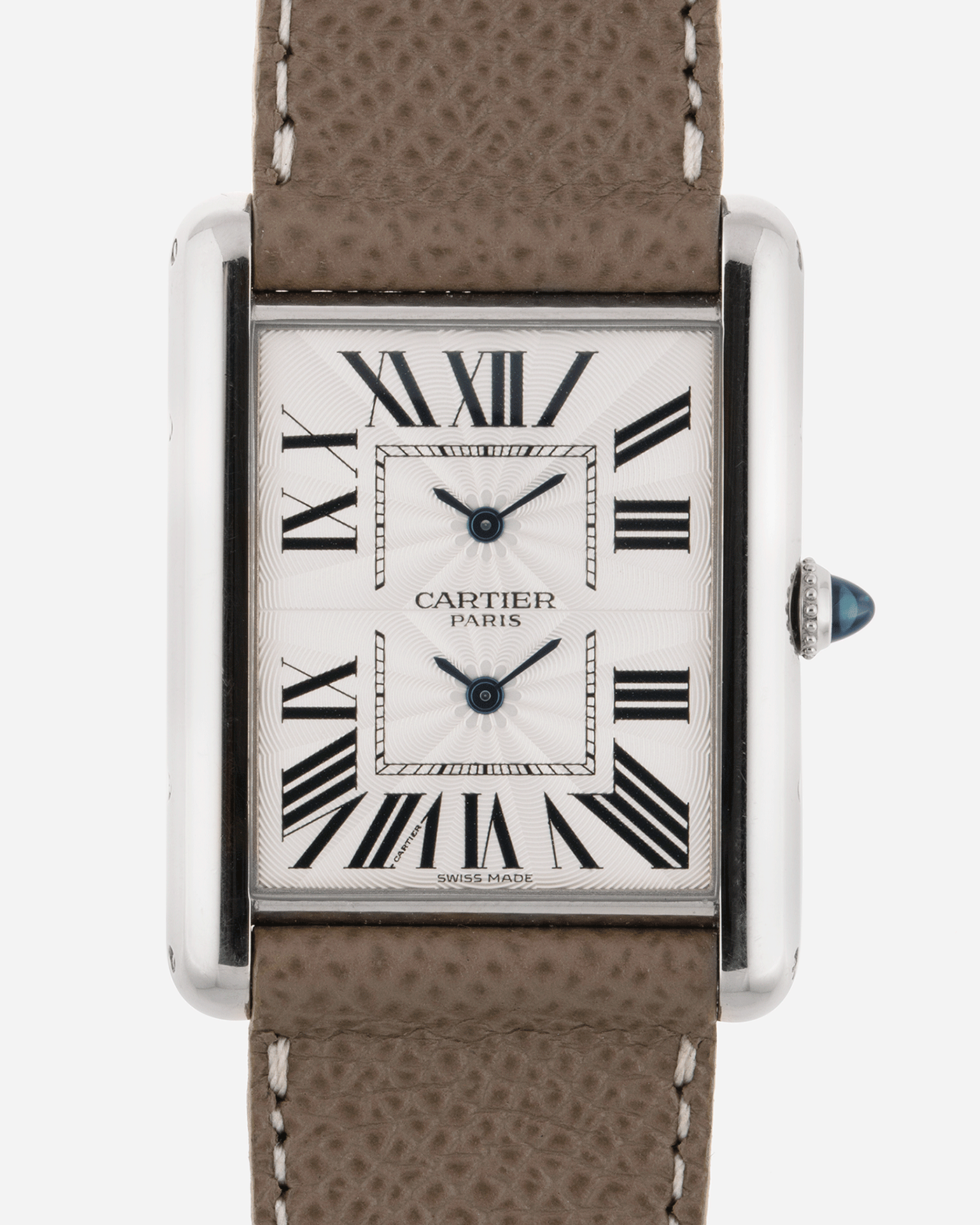 Cartier Tank CPCP Dual Time 2917 Collection Prive Cartier Paris Watch | S.Song Vintage Timepieces