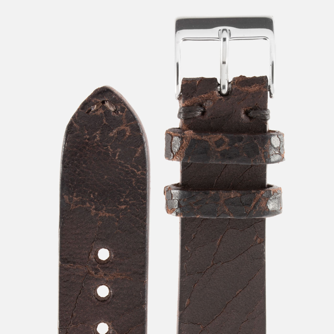 JPM X S.Song Dark Brown Cracked Natural Leather