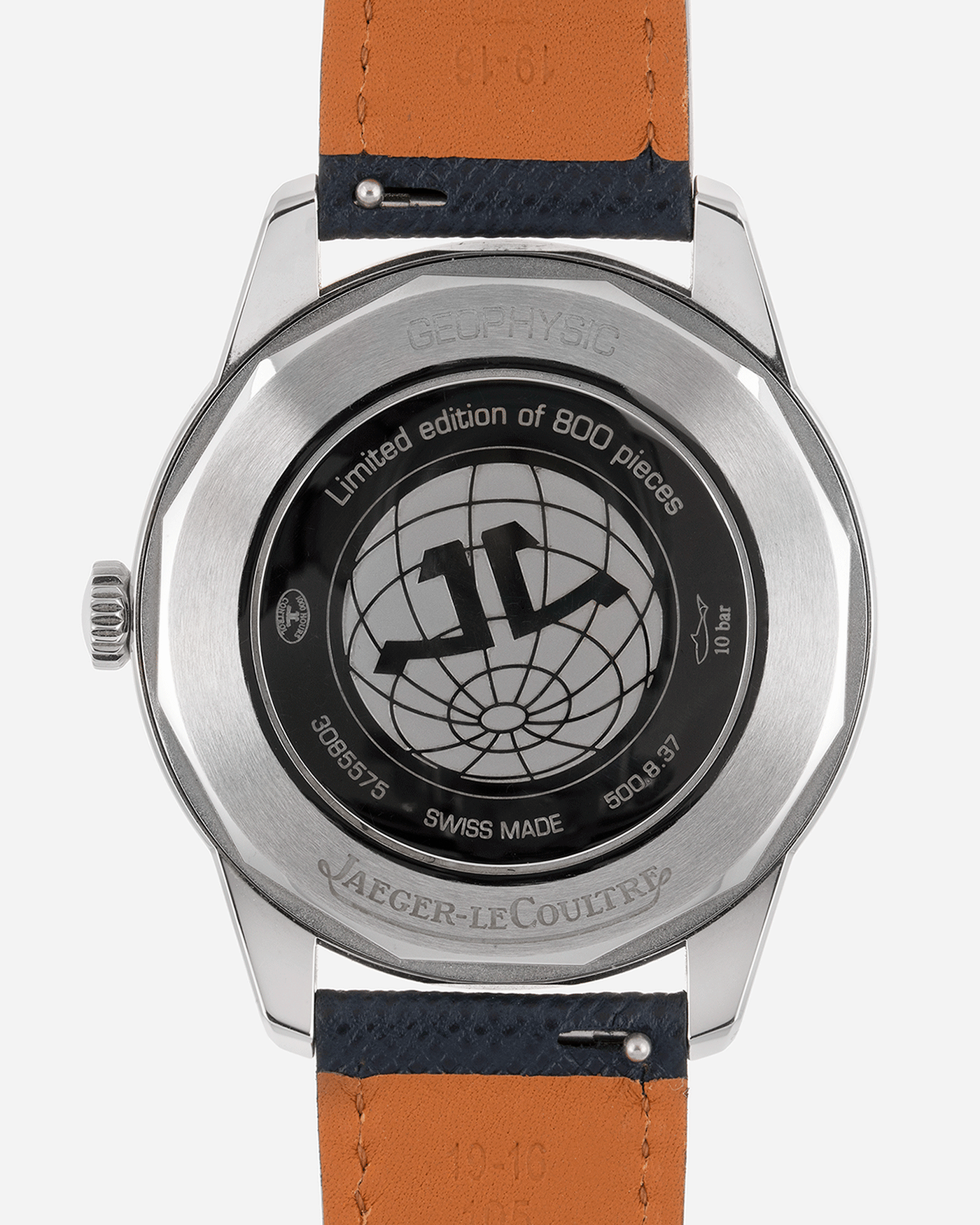 Brand: Jaeger-LeCoultre Year: 2014 Model: Geophysic 1958 Reference Number: Q8008520 Material: Stainless Steel Movement: In-house self winding Cal. 898/1 Case Diameter: 38.5mm Bracelet/Strap: Black Jaeger-LeCoultre Alligator Strap and Stainless Steel Tang Buckle and Molequin X S.Song Navy Calf Strap