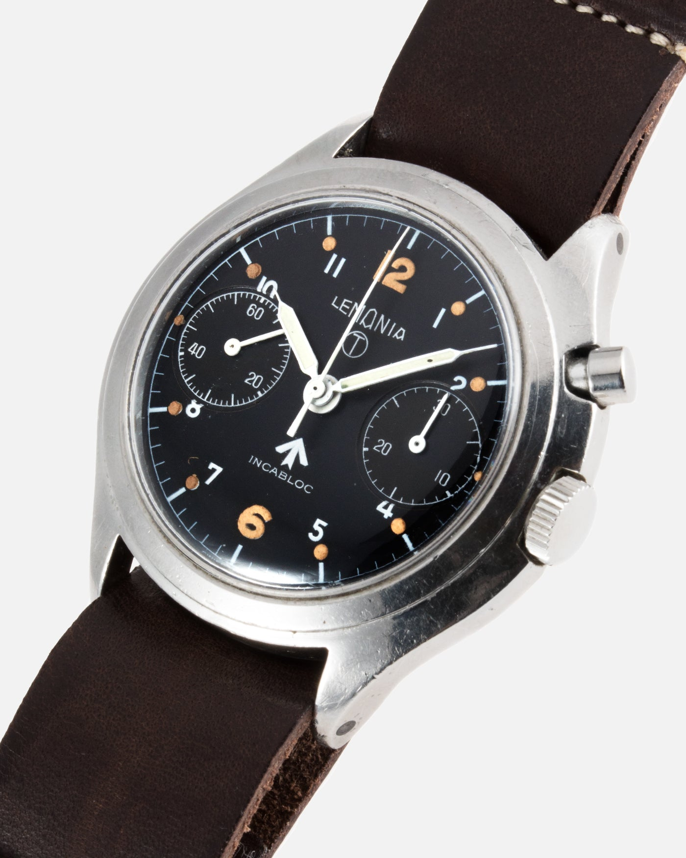Lemania Royal Air Force Monopusher Series 3 Military Watch | S.Song Vintage Watches For Sale