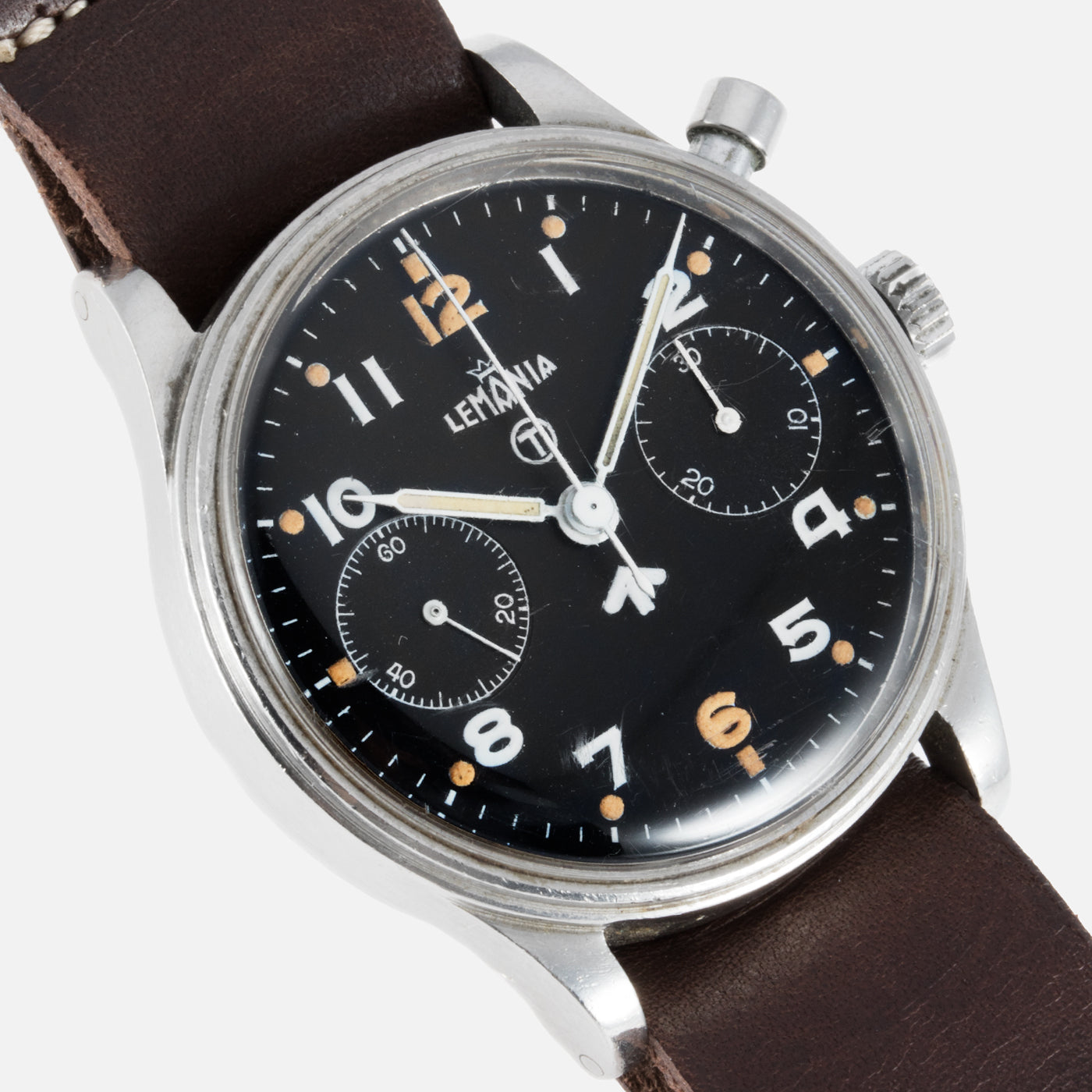 Lemania Series 2 Royal Navy Monopusher Chronograph