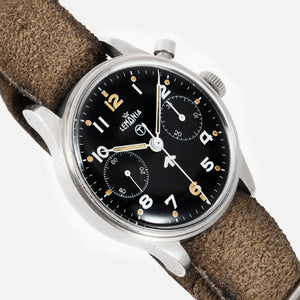 Lemania Royal Navy Monopusher Chronograph