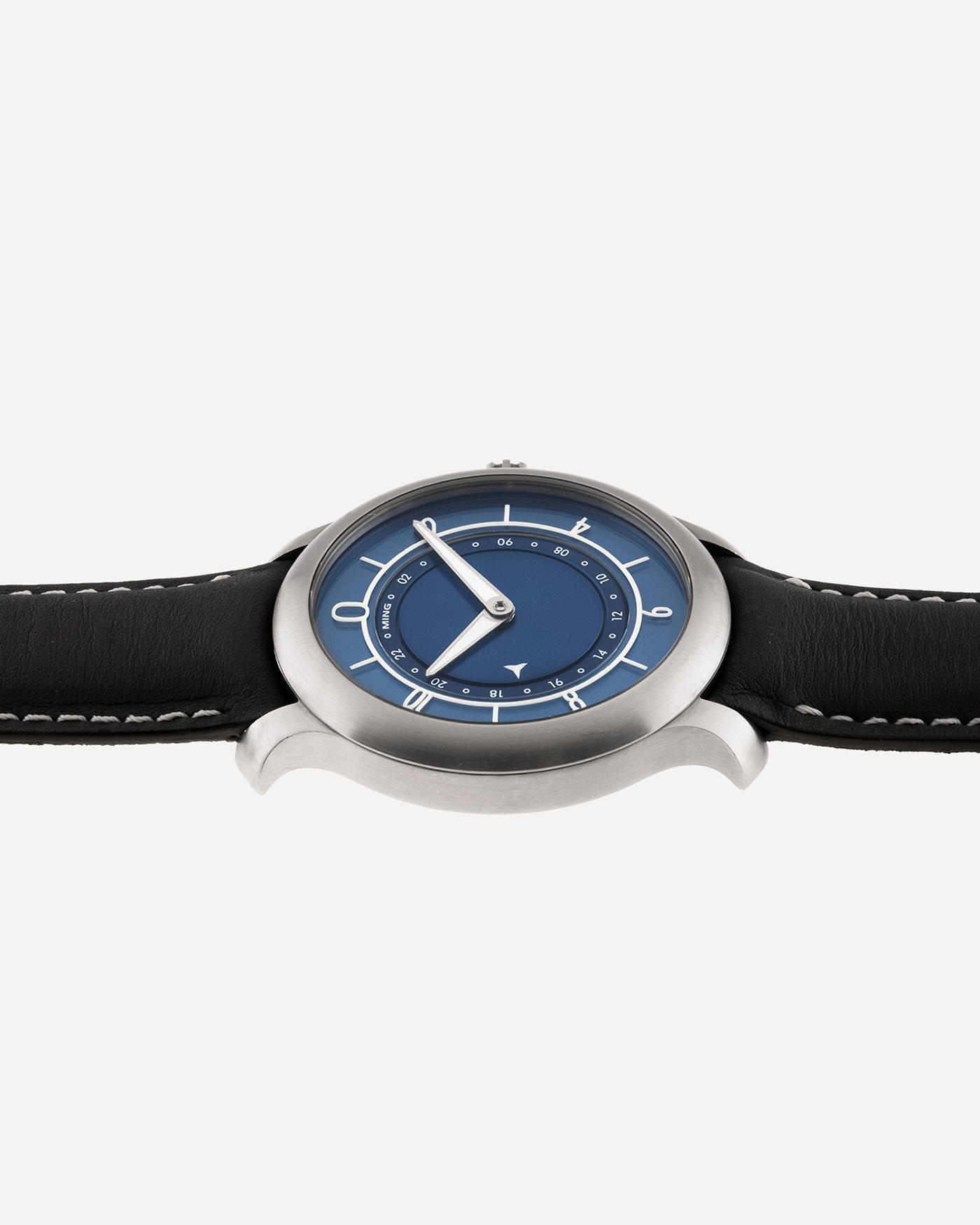Brand: Ming Year: 2018 Model: 17.03 Material: Grade 2 Titanium Movement: Self-Winding Sellita SW 330-1 Case Diameter: 38mm Strap: Jean Rousseau Blue Grey Smooth Calf for MING