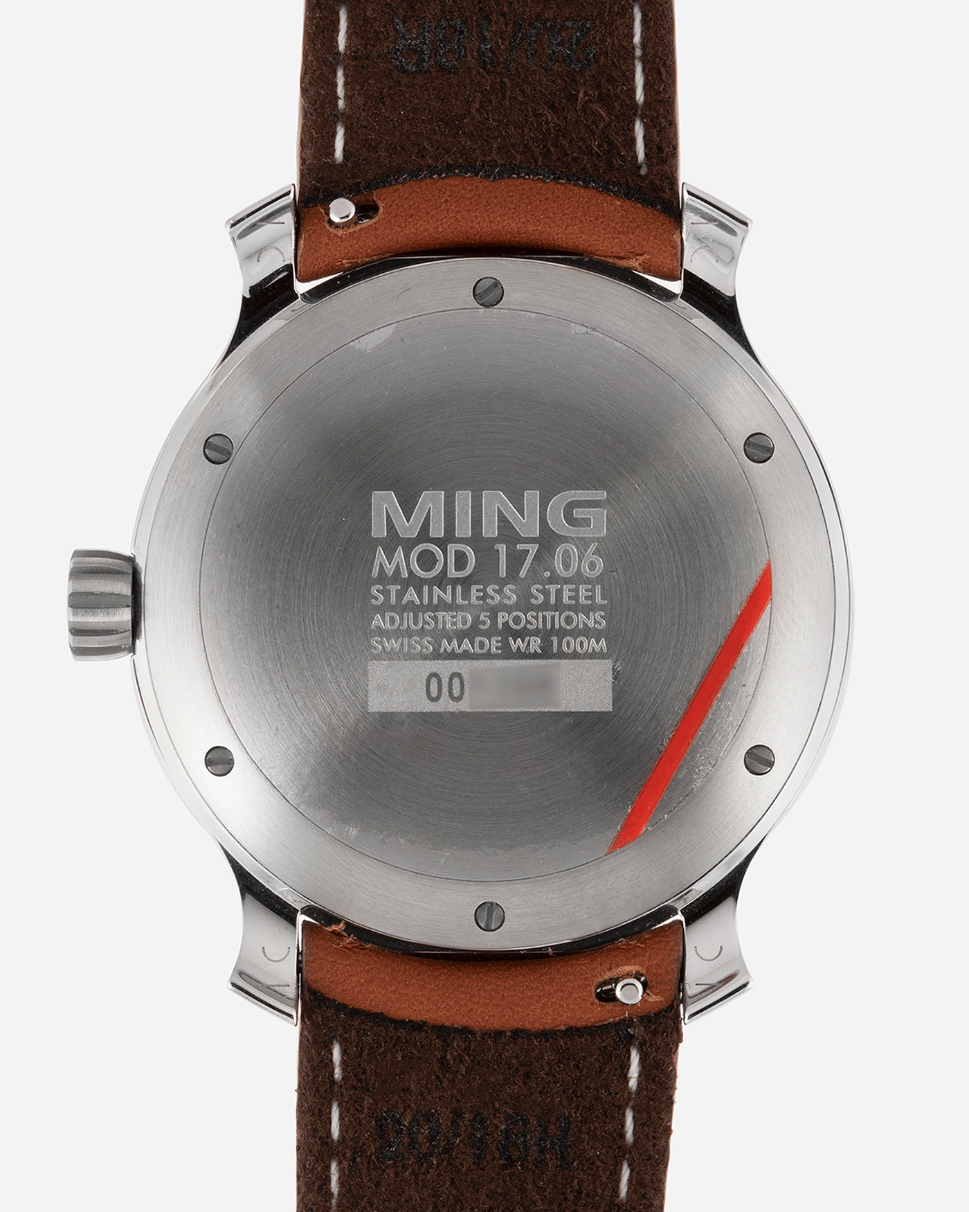 Brand: Ming Year: 2019 Model: 17.06 Material: Stainless Steel Movement: Heavily Modified ETA 2824-2 Case Diameter: 38mm Strap: Jean Rousseau Brown Smooth Calf for MING