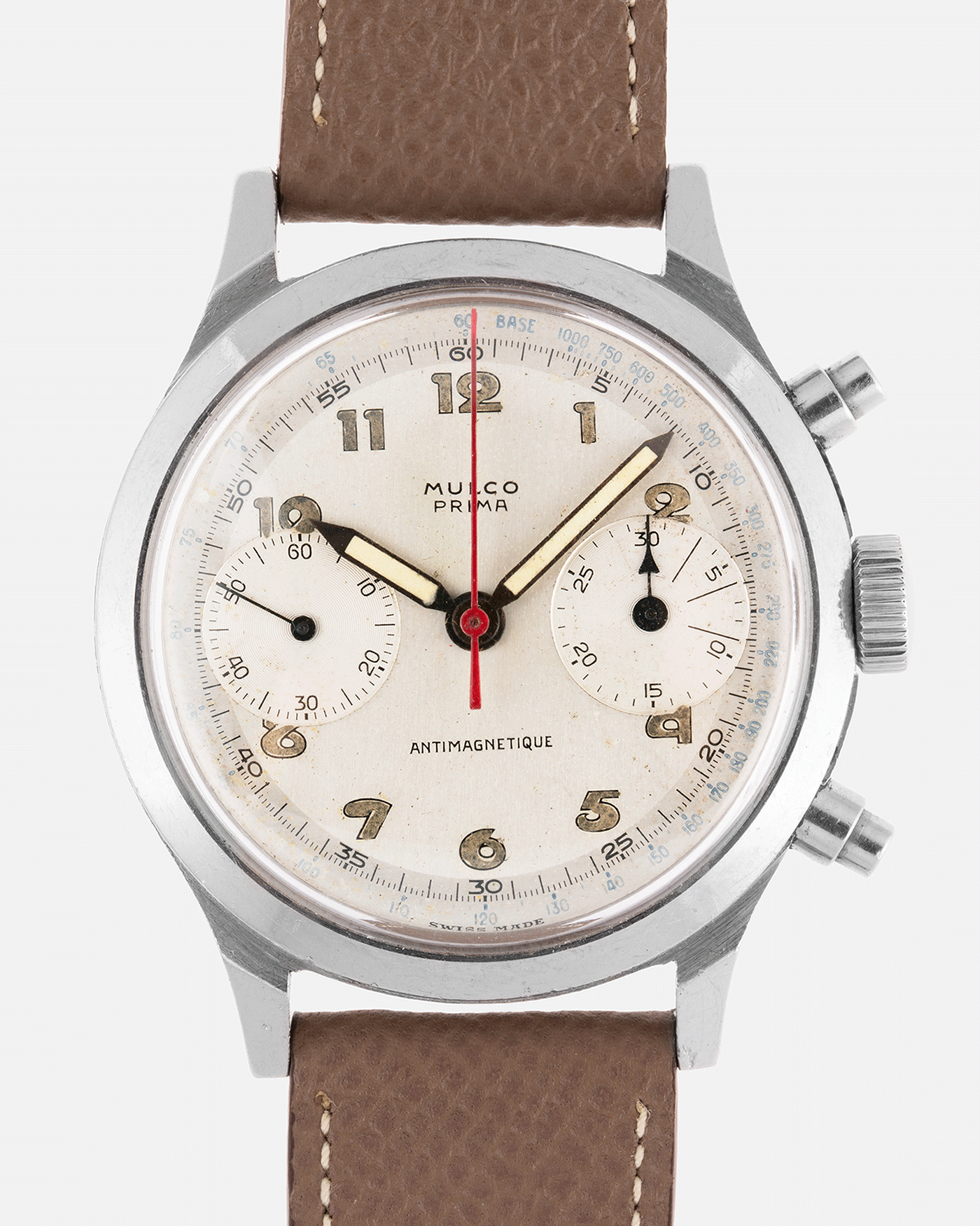 Mulco Prima Spillman Case Chronograph Vintage Watch | S.Song Vintage Watches Mark Eleven