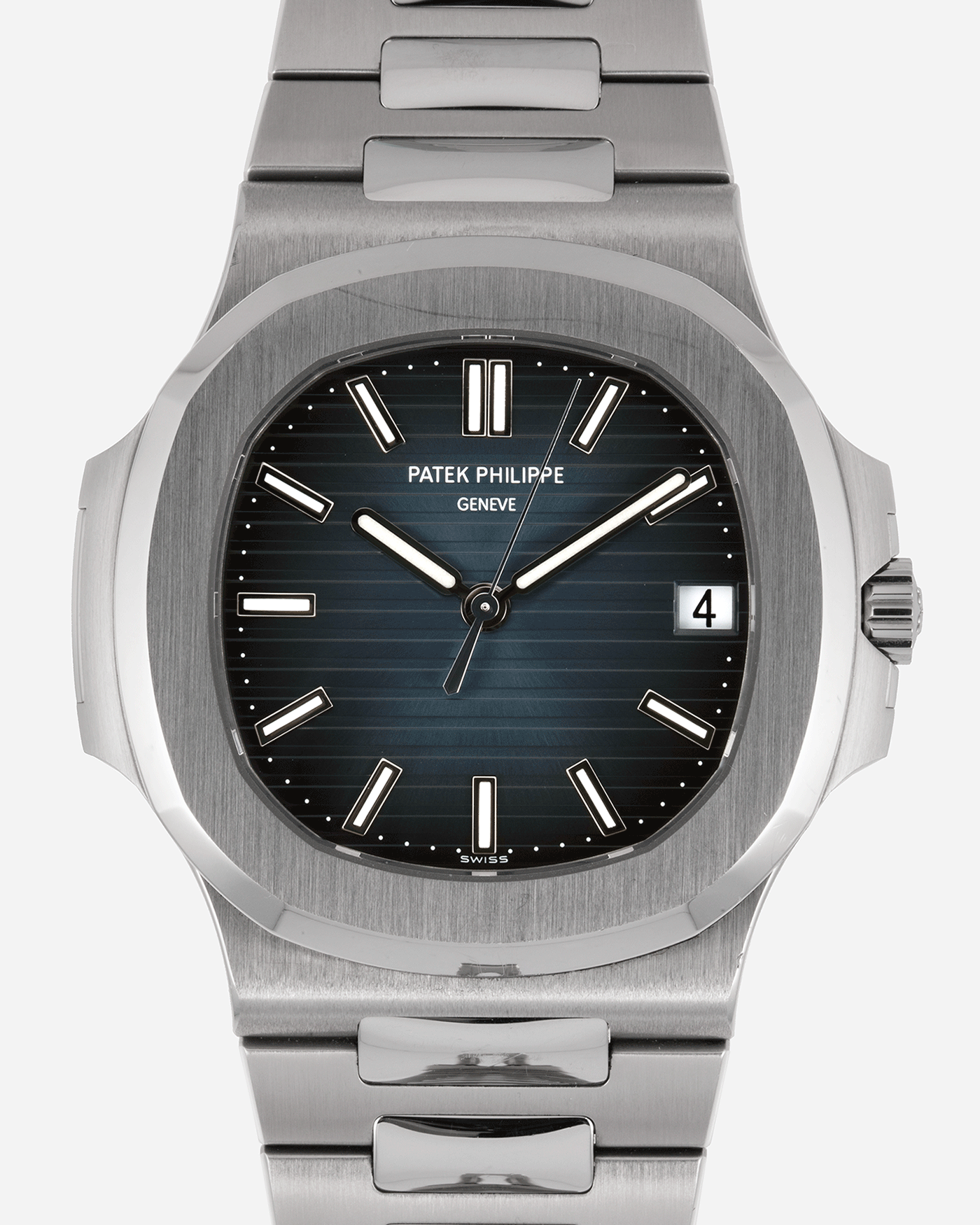 Brand: Patek Philippe Year: 2014 Model: Nautilus Reference Number: 5711A Material: Stainless Steel Movement: Calibre 324SC Case Diameter: 40mm Bracelet: Patek Philippe Integrated Stainless Steel Bracelet