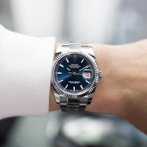 Rolex Datejust 116234 Blue 36mm Watch | S.Song Vintage ...Rolex Datejust 36mm On Wrist