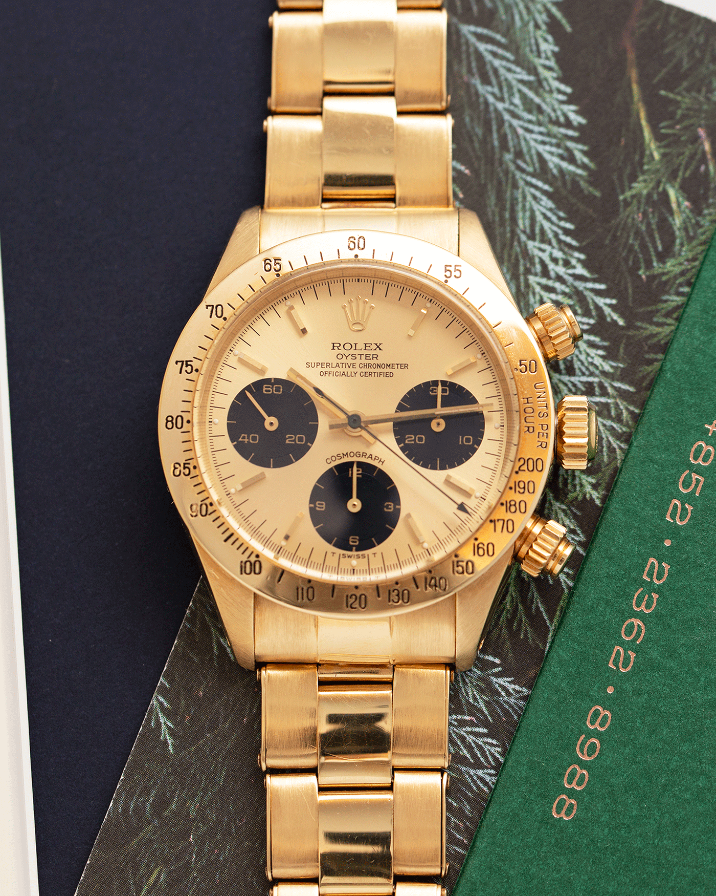 Rolex Cosmograph Daytona 6265 Vintage Yellow Gold Chronograph Watch | S.Song Vintage Timepieces