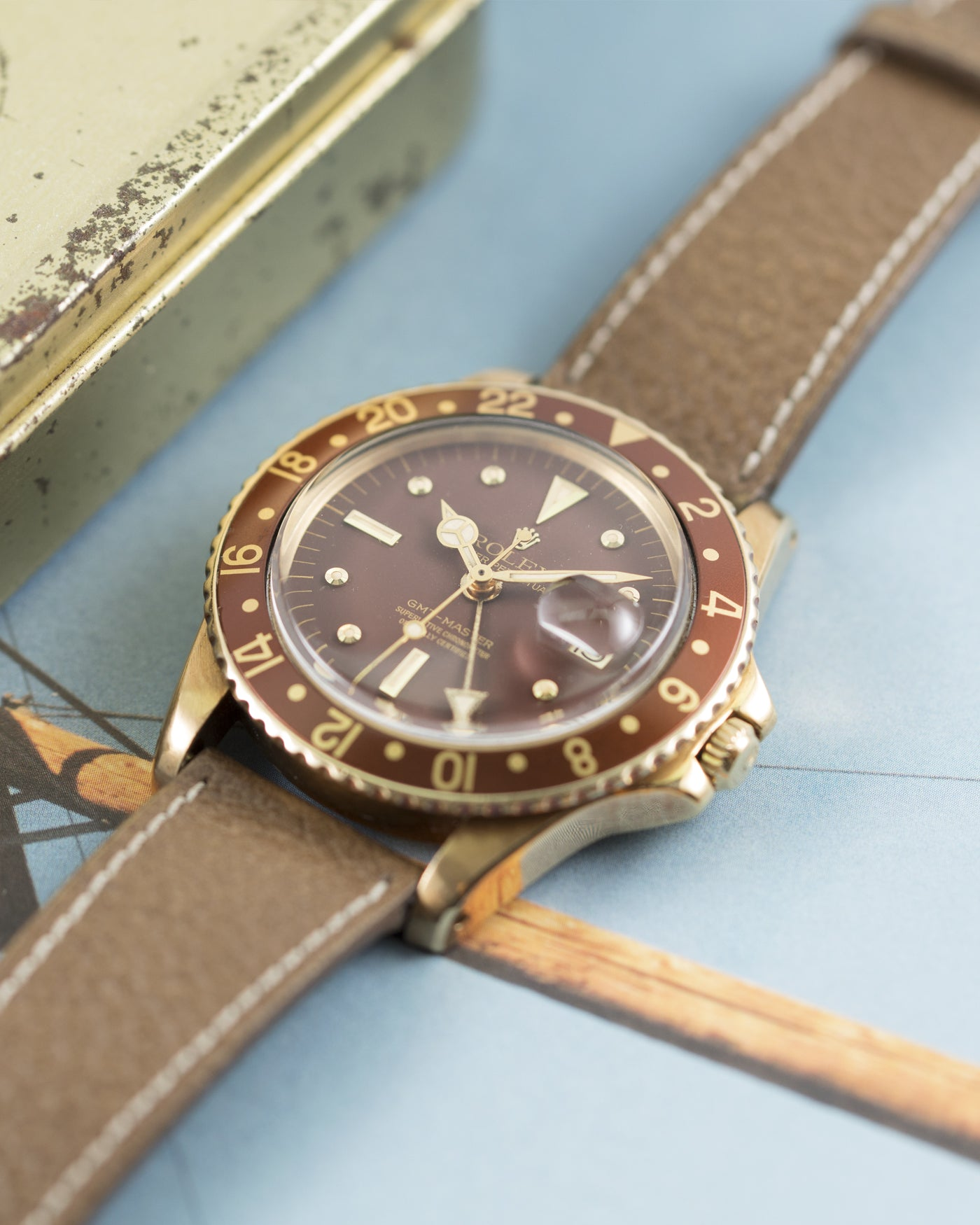 Rolex GMT-Master Ref. 1675 Yellow Gold