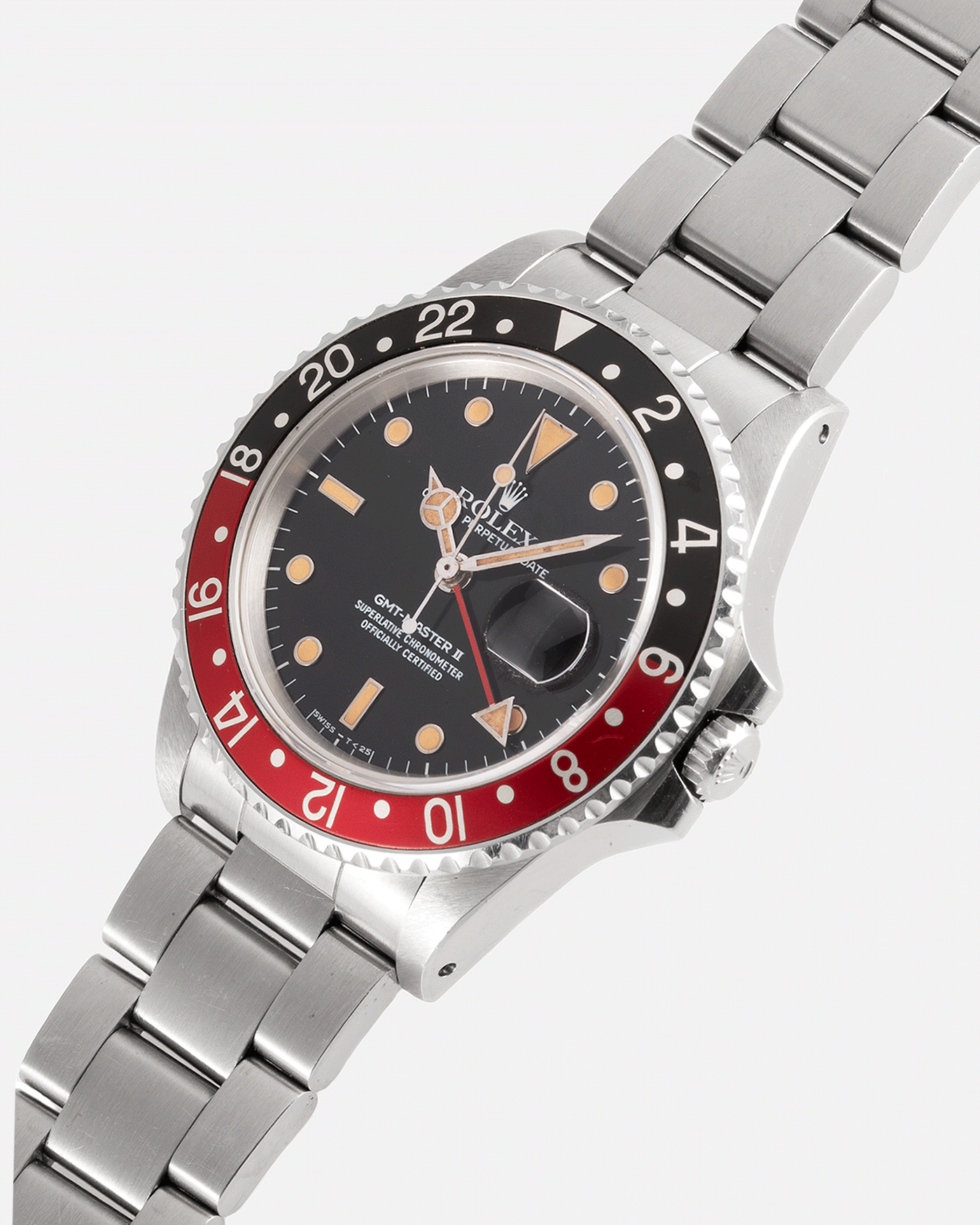 Brand: Rolex Year: 1987 Model: GMT-Master II Reference Number: 16760 Serial Number: 963XXXX Material: Stainless Steel Movement: Cal. 3085 Case Diameter: 40mm Lug Width: 20mm Bracelet/Strap: Rolex Heavy Oyster 78360 with '501' Endlinks and 'L3' Clasp