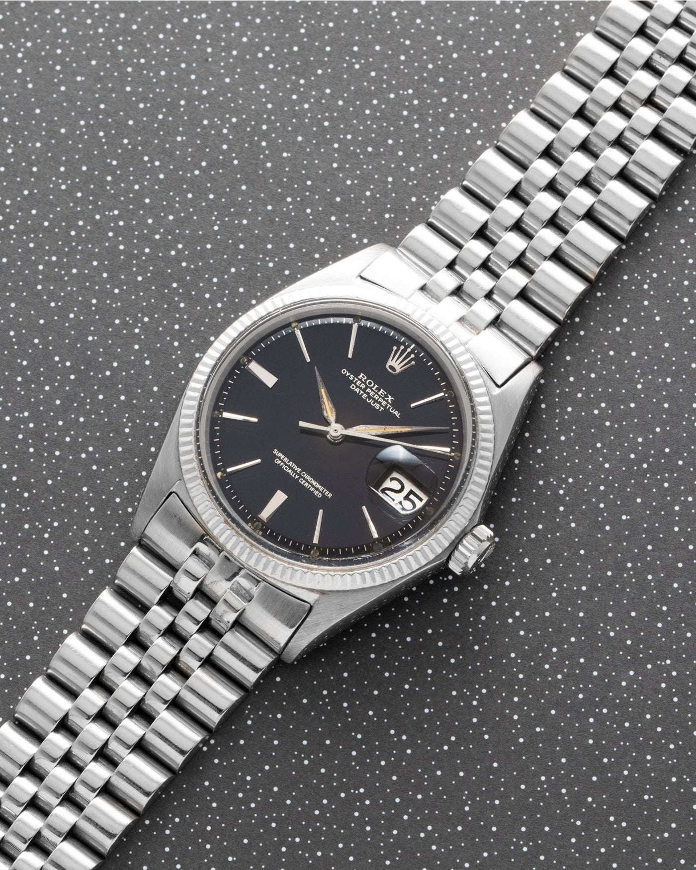 Rolex Datejust 1601 White Gold 'Tropical'