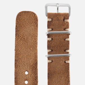 JPM X S.Song Sand Brown Distressed Leather NATO