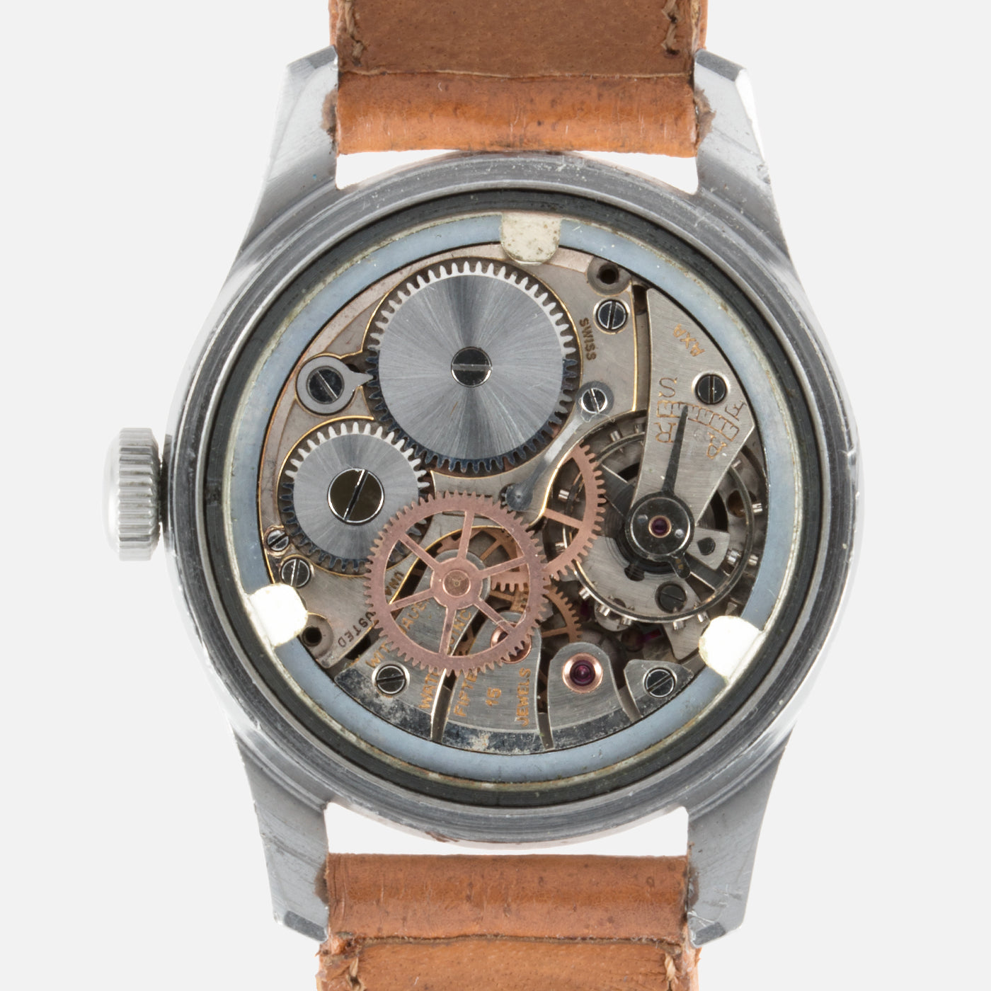 Wittnauer Stepped Case 24 Hr Dial