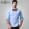 Solid wooden bow ties