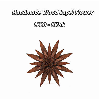 Wooden Brooch Lapel Flowers - LF20