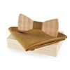 wooden bow tie wood box pocket square